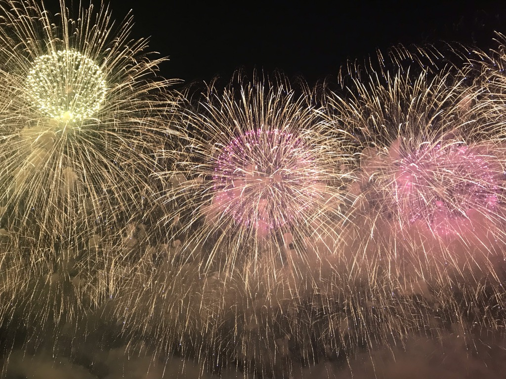 長岡花火はすごかった!JRで行く人に。予約、交通、混雑、見やすい場所