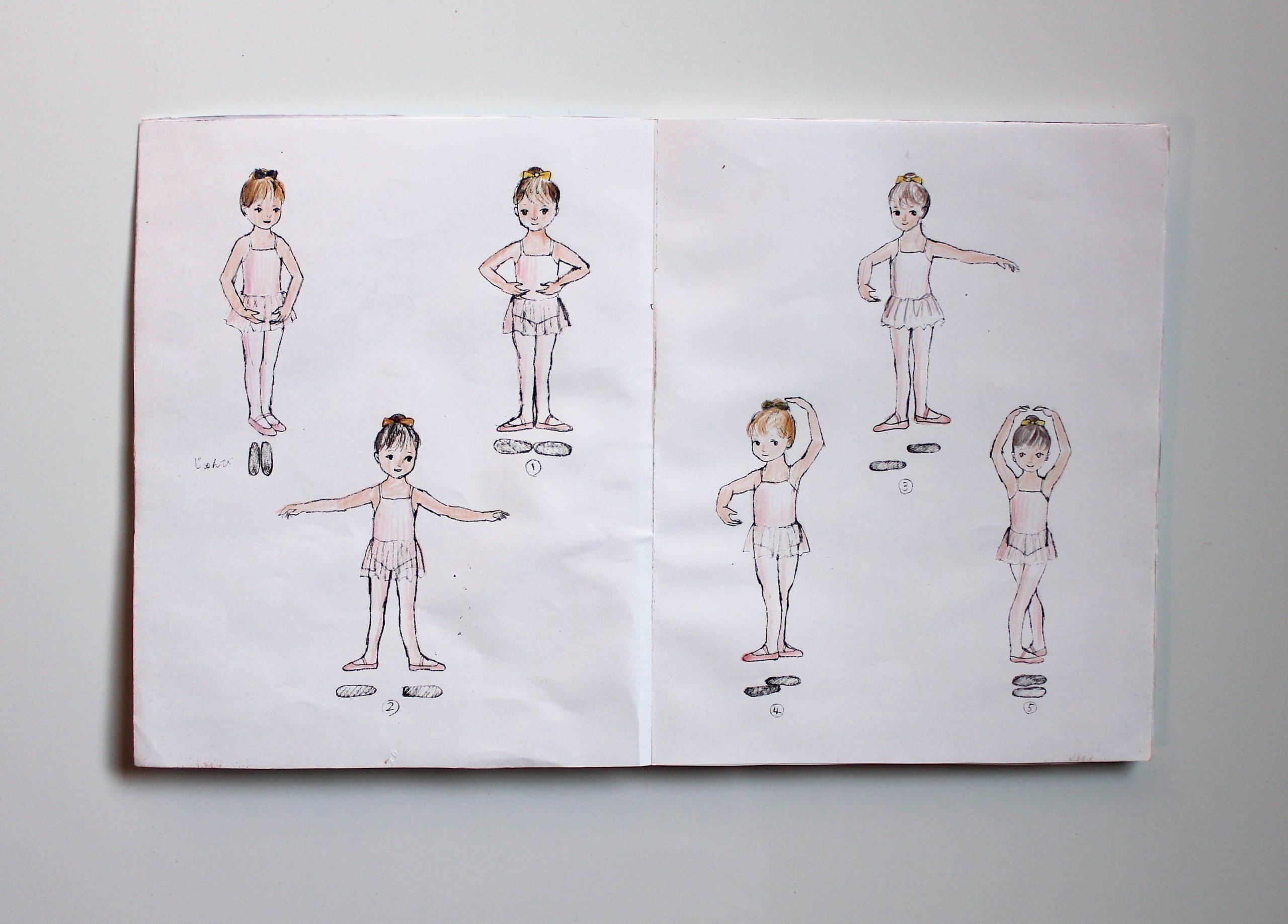 バレエ絵本を書くまで&描くまで。ラフや束見本など。